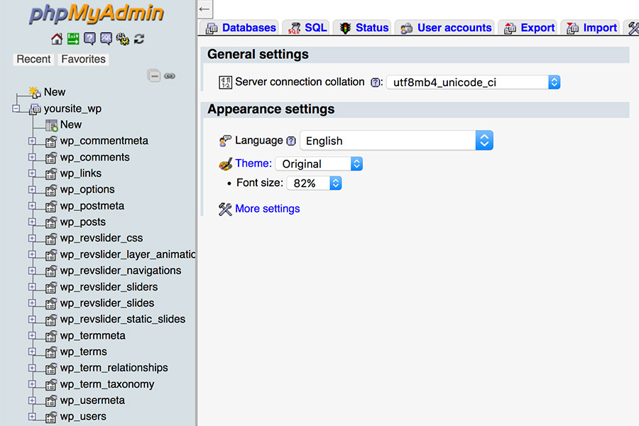 step-2-phpmyadmin-database