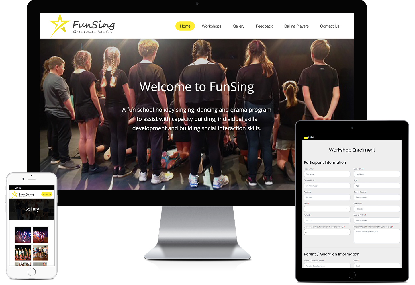 Funsing Website Design Ballina by Freelancer Robert Mullineux