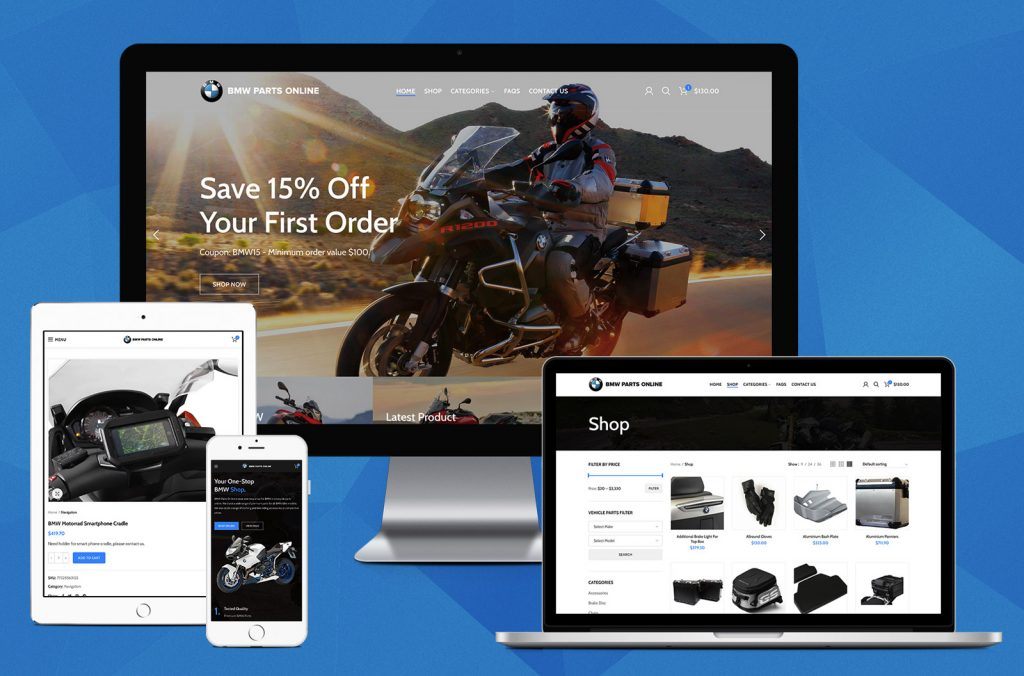 BMW Parts Online - eCommerce Website Design Australia by Robert Mullineux