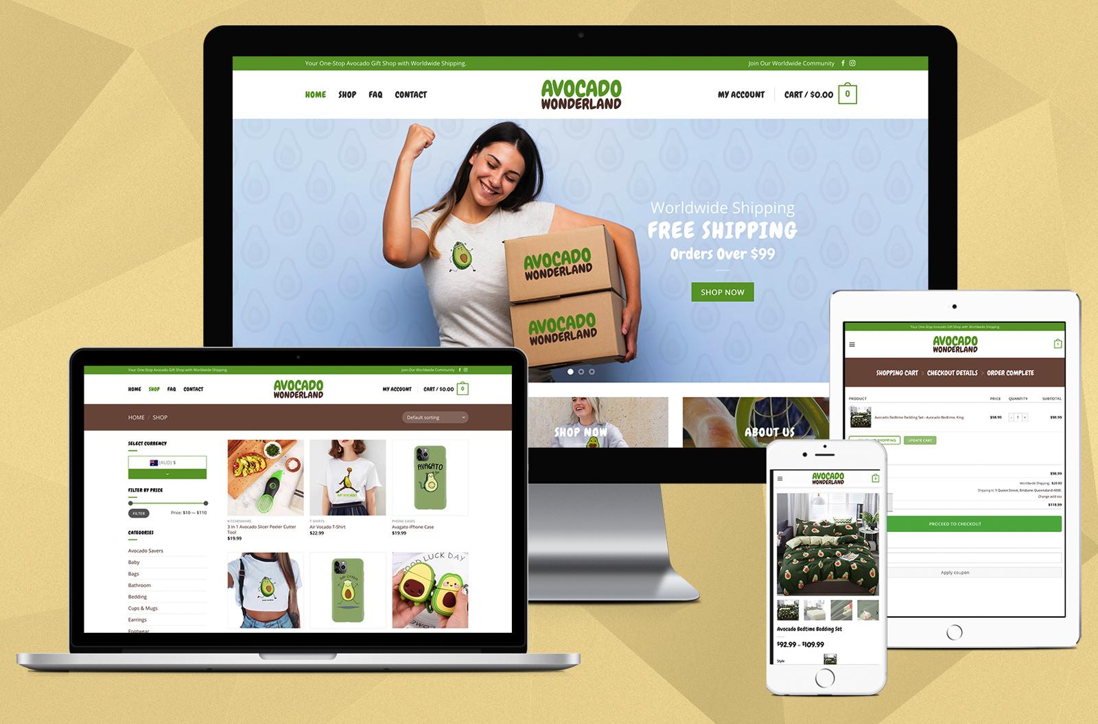 avocado-wonderland-website-design