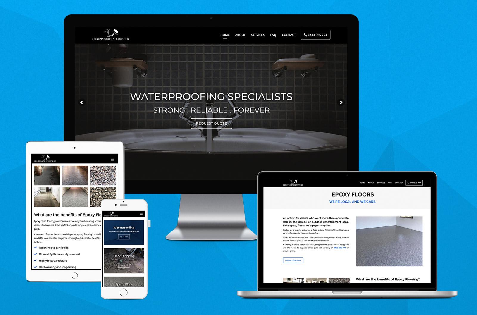 stripproof-industries-website-design