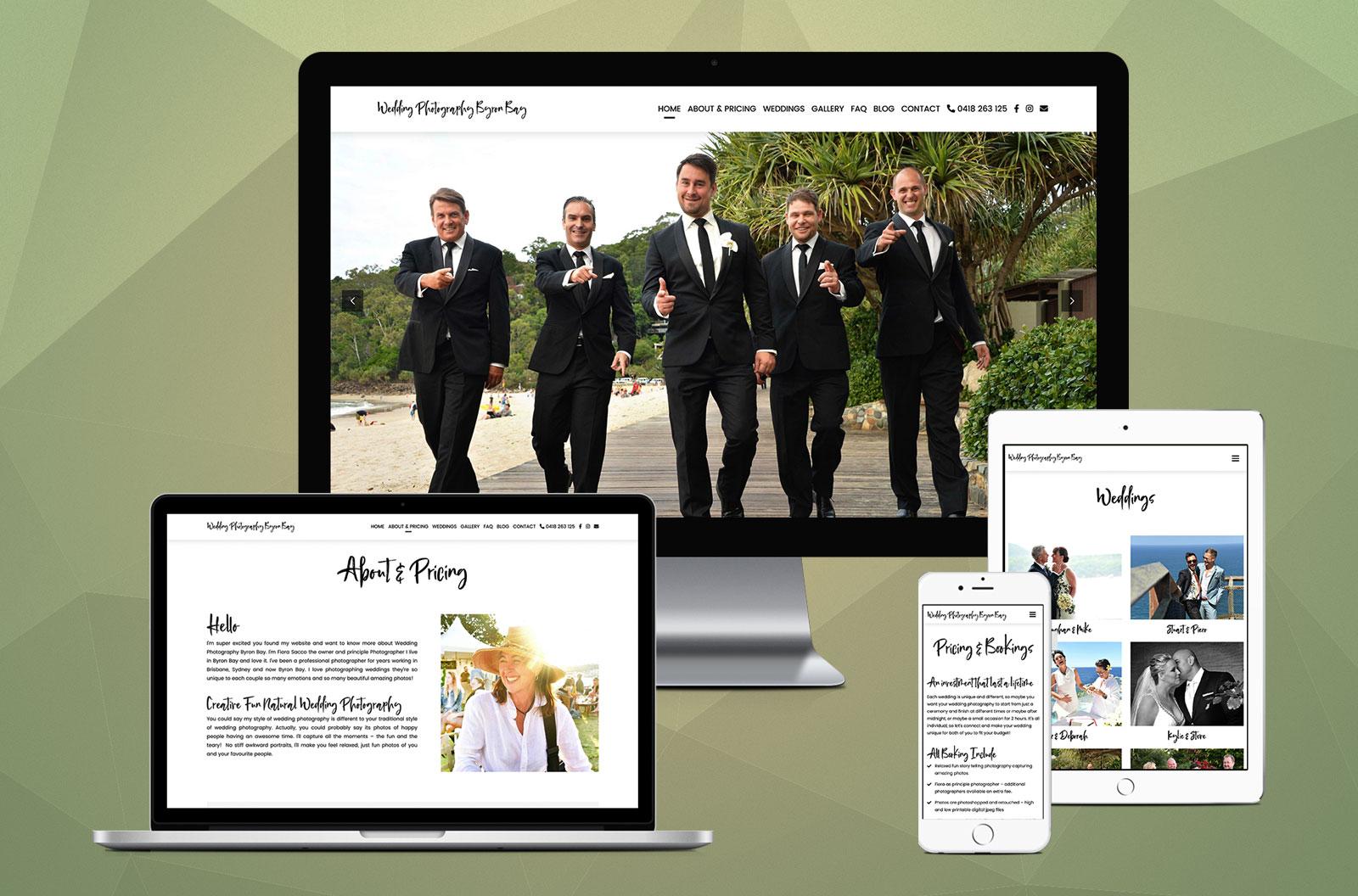 Wedding Photography Byron Bay - Website Design Robert Mullineux