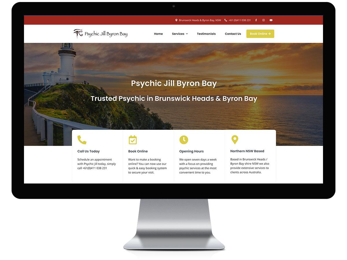 Psychic Jill Byron Bay 01 - Projects - Robert Mullineux - Freelance Website Design