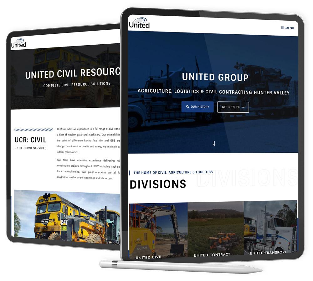 united-group-website-design-newcastle-hunter-valley-robert-mullineux